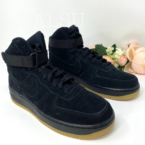 Nike Shoes Air Force 1 High Top Lv8 Gs Suede Black Kw Poshmark